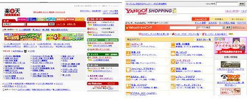 楽天 Yahoo